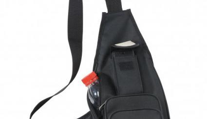 Holster-Rucksack mit vielen Taschen